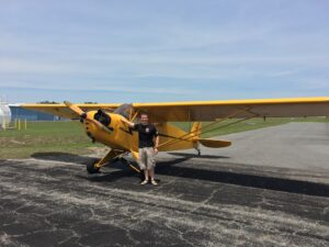 Rob in Front of Piper J-3 Cub