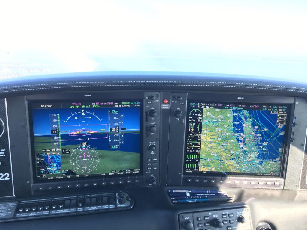 SR22 Cockpit Over White Plains